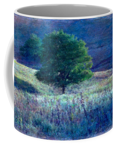 Tree Coffee Mug featuring the photograph Prairie Trees Impressionistic Grunge by Anna Louise
