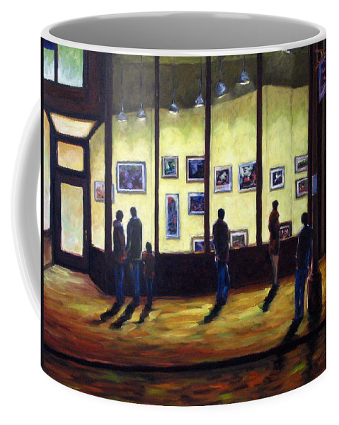 Urban Coffee Mug featuring the painting Pranke by Richard T Pranke