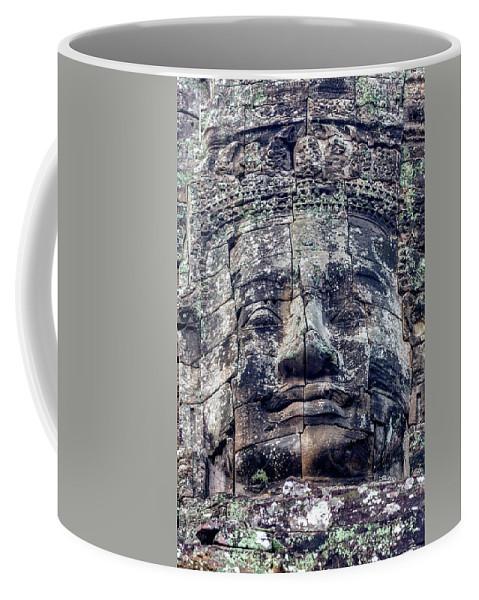 Bayon Coffee Mug featuring the photograph Prasat Bayon Stone Face by Art Phaneuf