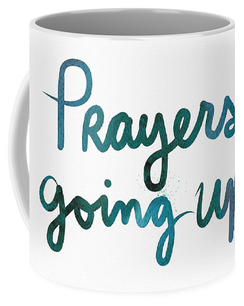 Prayers Coffee Mug featuring the painting Prayers Going Up- Art By Linda Woods by Linda Woods