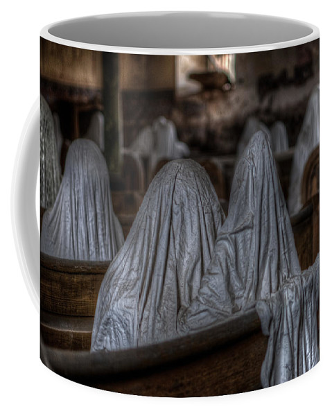 Ghostly Coffee Mug featuring the digital art Praying For Peace by Nathan Wright