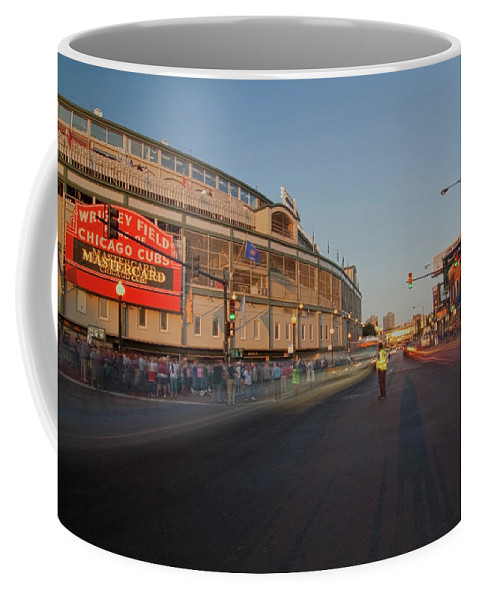 Chicago Coffee Mug featuring the photograph Pre-game Cubs Traffic by Sven Brogren