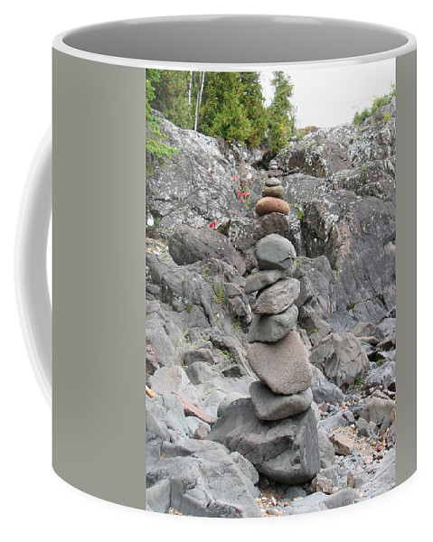 Stones Coffee Mug featuring the photograph Precarious by Kelly Mezzapelle