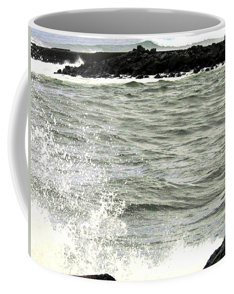 Stormy Coffee Mug featuring the photograph Precarious by Will Borden