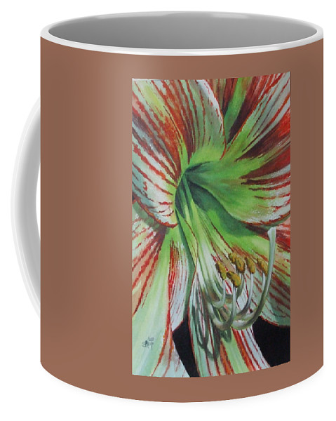 Amaryllis Coffee Mug featuring the painting Precious by Barbara Keith
