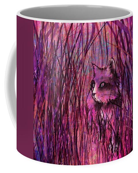 Abstract Coffee Mug featuring the digital art Predator by Rachel Christine Nowicki