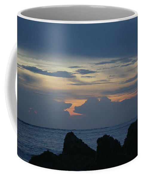 Ocean Coffee Mug featuring the photograph Predawn At The Jetty by Kenneth Albin