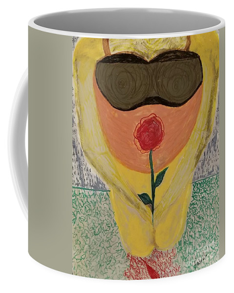 Pregnancy Coffee Mug featuring the drawing Pregnancy by Amber Waltmann