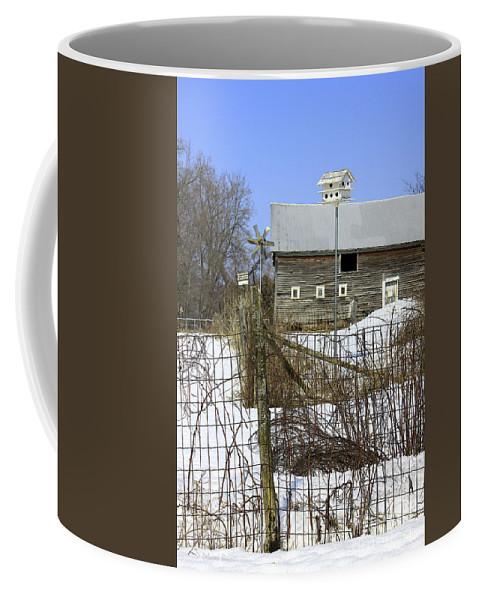 Country Coffee Mug featuring the photograph Premium Bird House View by Deborah Benoit