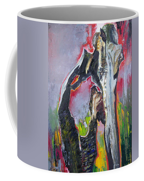 Oil Coffee Mug featuring the painting Presentiment by Sergey Ignatenko