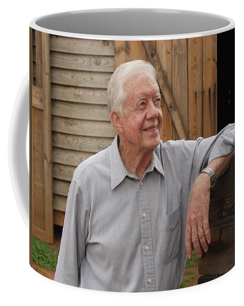 President Jimmy Carter Coffee Mug featuring the photograph President Carter At His Boyhood Farm by Jerry Battle