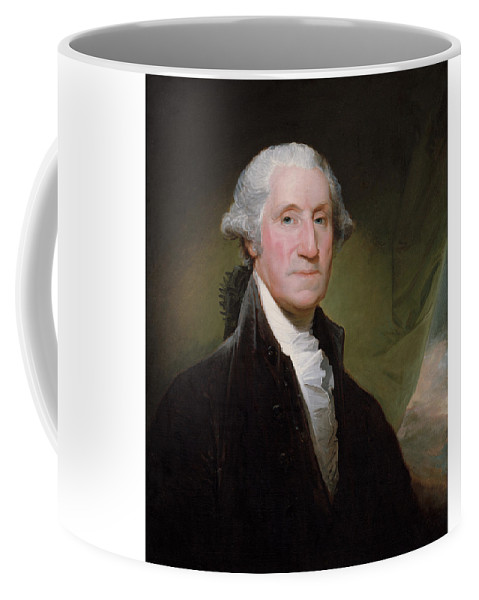 George Washington Coffee Mug featuring the painting President George Washington by War Is Hell Store
