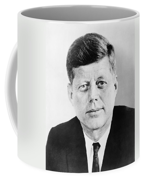 Jfk Coffee Mug featuring the photograph President John F. Kennedy by War Is Hell Store