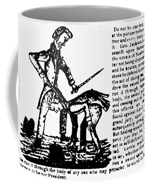 1828 Coffee Mug featuring the photograph Presidential Campaign, 1828 by Granger