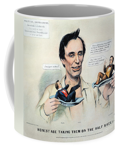 1860 Coffee Mug featuring the photograph Presidential Campaign, 1860 by Granger