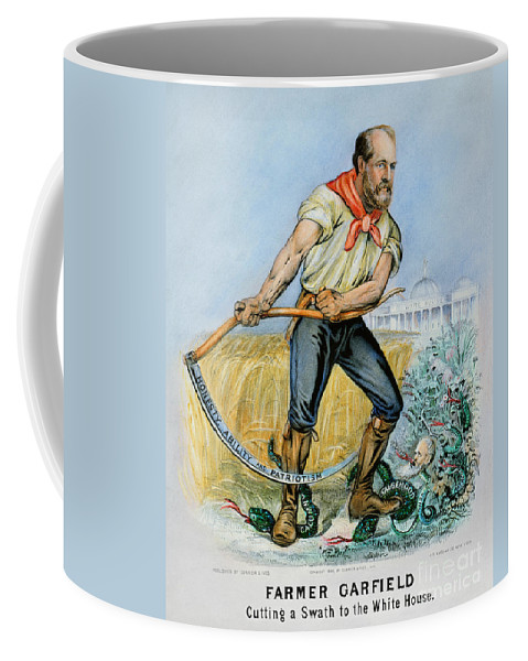 1880 Coffee Mug featuring the photograph Presidential Campaign, 1880 by Granger