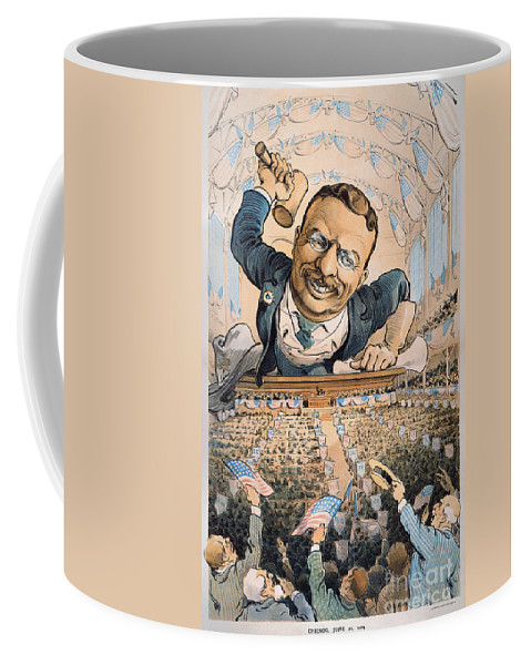 1904 Coffee Mug featuring the photograph Presidential Campaign, 1904 by Granger
