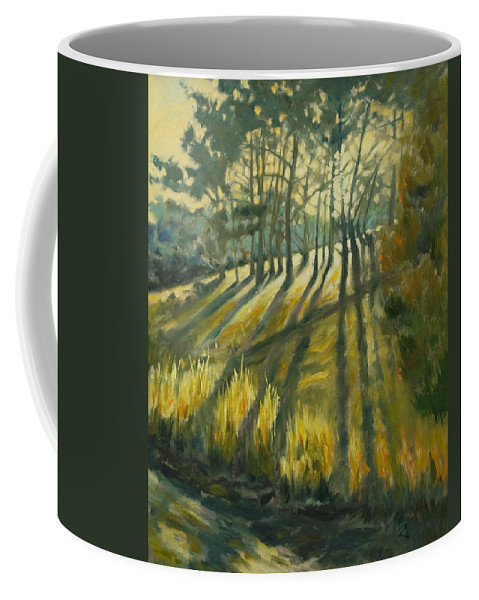 Trees Coffee Mug featuring the painting Presidio by Rick Nederlof