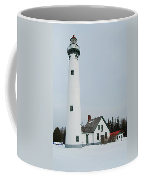 Presque Isle Lighthouse Coffee Mug featuring the photograph Presque Isle Lighthouse by Michael Peychich