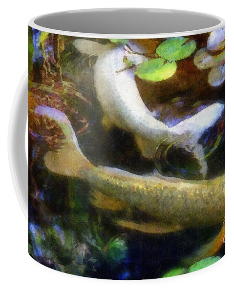 Fish Coffee Mug featuring the painting Pretending To Be Coy by RC DeWinter