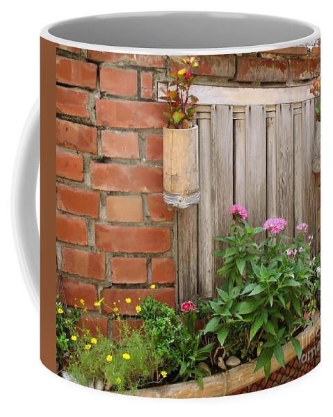 Garden Coffee Mug featuring the photograph Pretty Garden Wall by Yali Shi