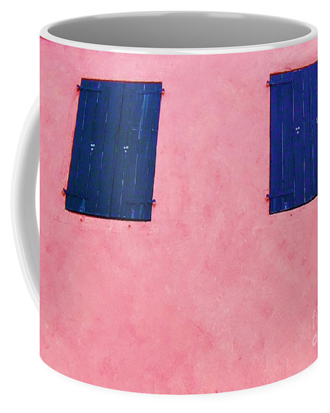 Shutters Coffee Mug featuring the photograph Pretty In Pink by Debbi Granruth