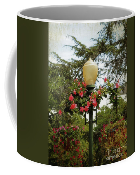Lo-fi Coffee Mug featuring the photograph Pretty In Pink by Paulette B Wright