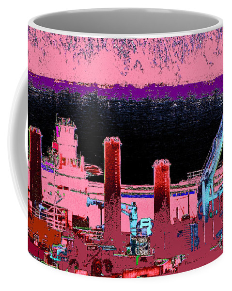 Abstract Coffee Mug featuring the photograph Pretty In Pink by Rachel Christine Nowicki