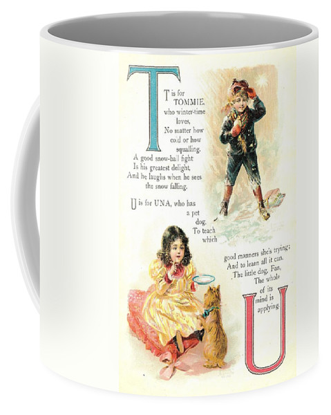 The Wurtherington Diary Coffee Mug featuring the painting Pretty Name Abc T And U by Reynold Jay