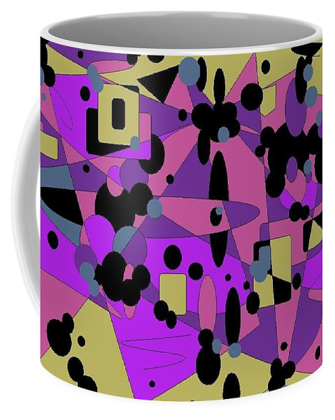 Digital Abstract Coffee Mug featuring the digital art Pretty Picture by Jordana Sands