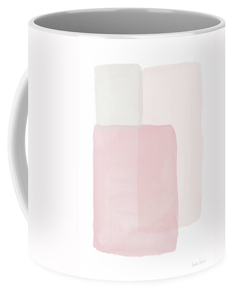 Watercolor Coffee Mug featuring the painting Pretty Pink Boxes 1- Art by Linda Woods by Linda Woods