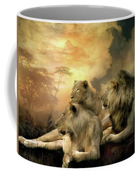 Carol Cavalaris Coffee Mug featuring the mixed media Pride by Carol Cavalaris