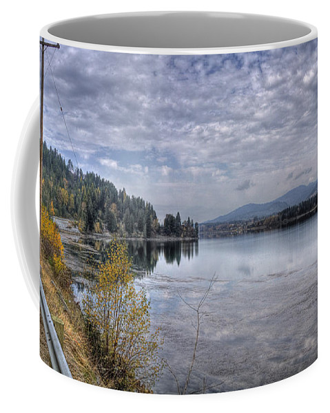 Coffee Mug featuring the photograph Priest River Panorama 8 by Lee Santa