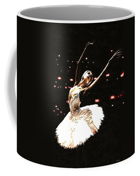 Prima Ballerina Coffee Mug featuring the painting Prima Ballerina by Richard Young