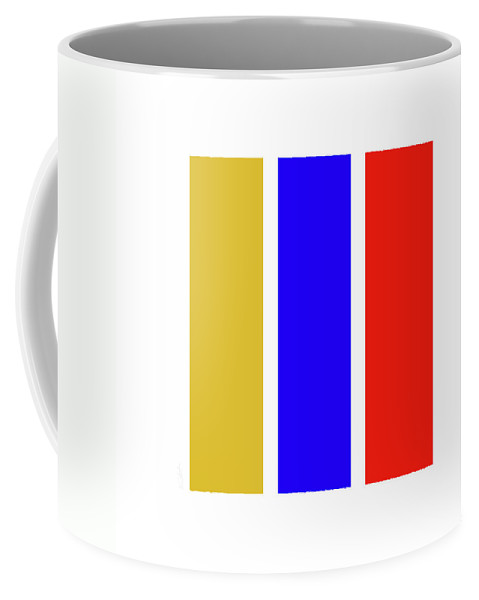 Primary Colors Coffee Mug featuring the digital art Primary by Charles Stuart