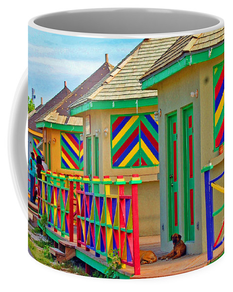 Vivid Coffee Mug featuring the photograph Primary Colors by Debbi Granruth