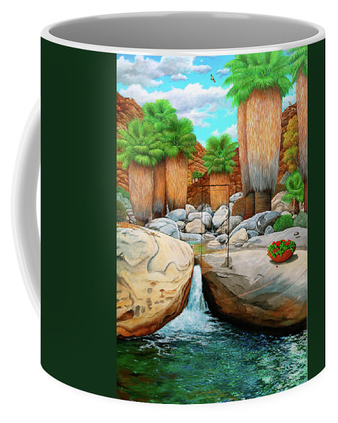 Landscape Coffee Mug featuring the painting Primary Escape Route by Snake Jagger
