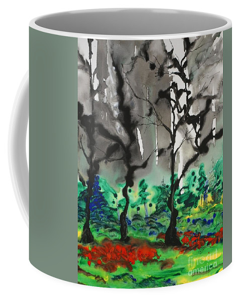 Forest Coffee Mug featuring the painting Primary Forest by Nadine Rippelmeyer