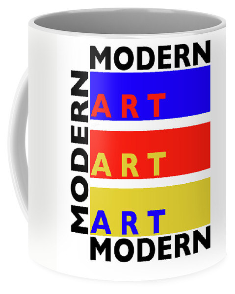 Primary Colors Coffee Mug featuring the painting Primary Modern by Charles Stuart