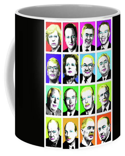 Prime Ministers Coffee Mug featuring the digital art 'prime Ministers Question Time X 16' by Gary Hogben