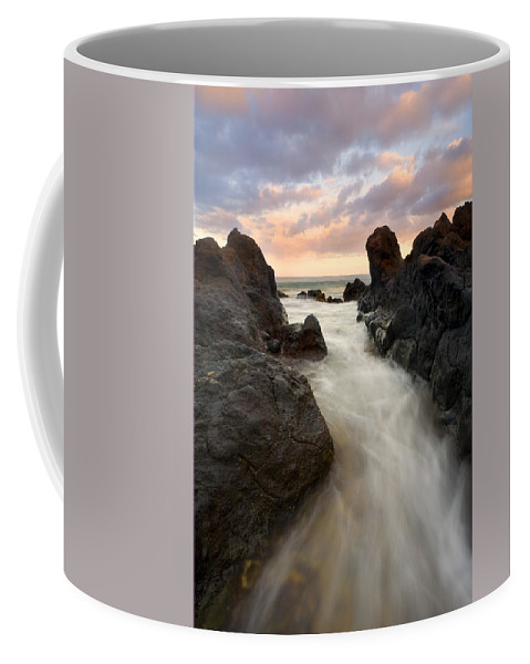 Sunrise Coffee Mug featuring the photograph Primordial Tides by Mike Dawson