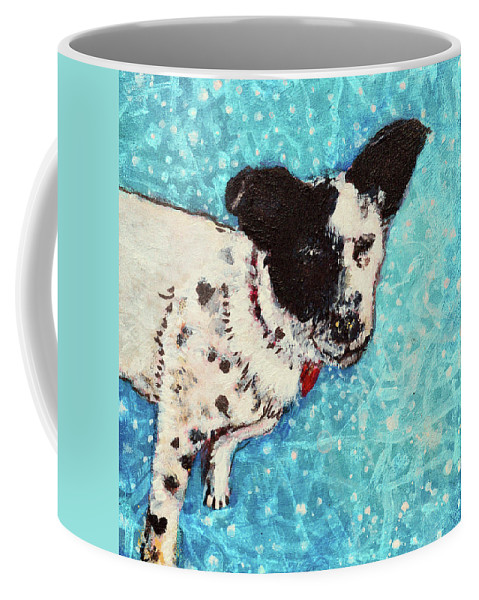 Pet Portraits Coffee Mug featuring the painting Primrose Water Love by Ashleigh Dyan Bayer