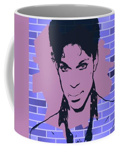 Prince Graffiti Tribute Coffee Mug featuring the digital art Prince Graffiti Tribute by Dan Sproul