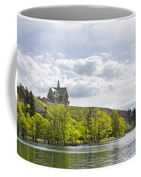 Waterton Alberta Canada Coffee Mug featuring the photograph Prince Of Wales Hotel by David Arment