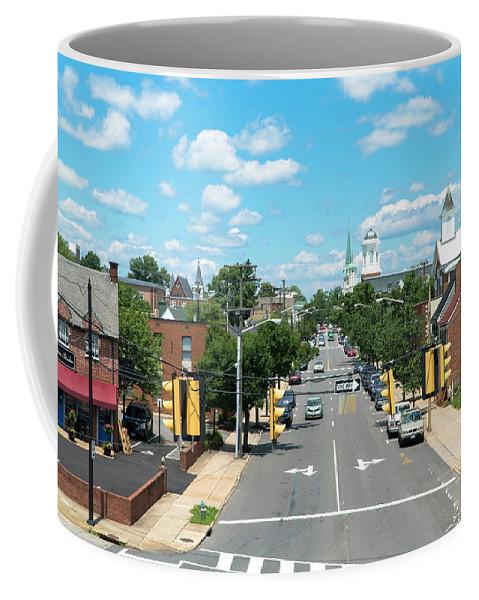 Princess Anne Avenue Coffee Mug featuring the photograph Princess Anne Avenue Fredericksburg by Arthur English