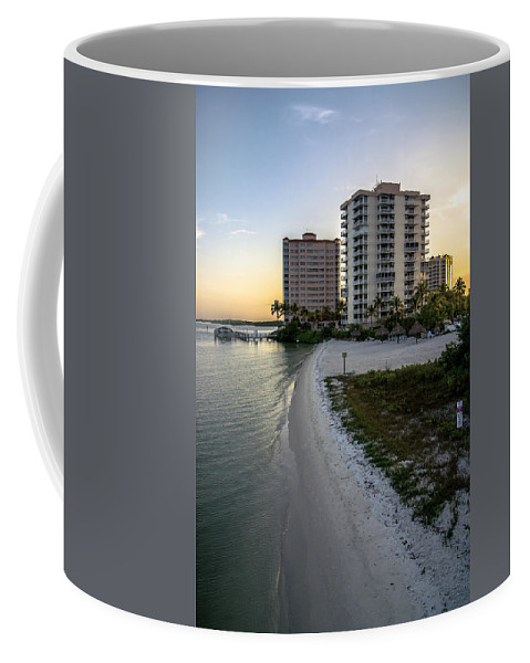 Private Beach Coffee Mug featuring the photograph Private Beach by Michael Frizzell