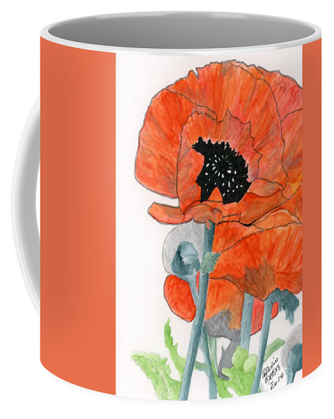 Poppies Coffee Mug featuring the painting Prize Poppies by Alexis Grone