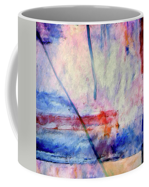 Abstract Coffee Mug featuring the painting Probe by Dominic Piperata