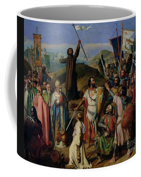 Procession Coffee Mug featuring the painting Procession Of Crusaders Around Jerusalem by Jean Victor Schnetz