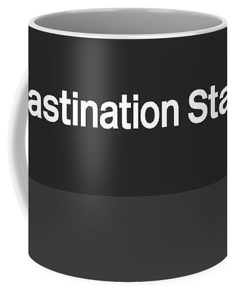 Pop Art Coffee Mug featuring the digital art Procrastination Station- Art By Linda Woods by Linda Woods